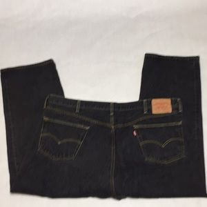 Levi's 501  48x30 button fly faded black jeans GUC